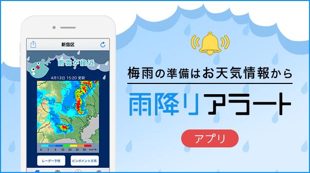 梅雨の準備はお天気情報から 雨降りアラート