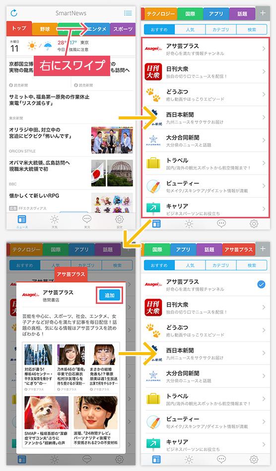 人気アプリ「SmartNews」で 自分...