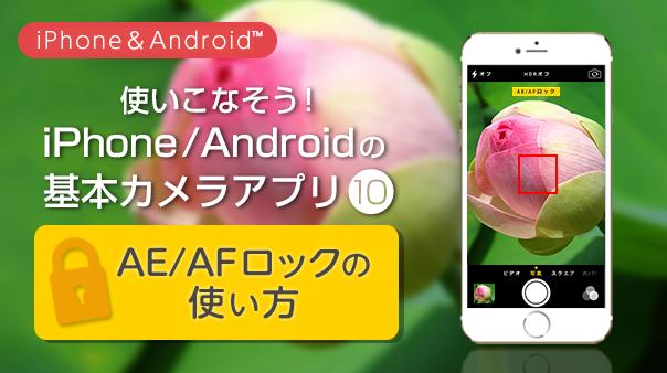 使いこなそう!iPhone/Android™の基本カメラアプリ⑩AE/AFロックの使い方