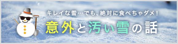 キレイな雪…でも、絶対に食べちゃダメ! 意外と汚い雪の話
