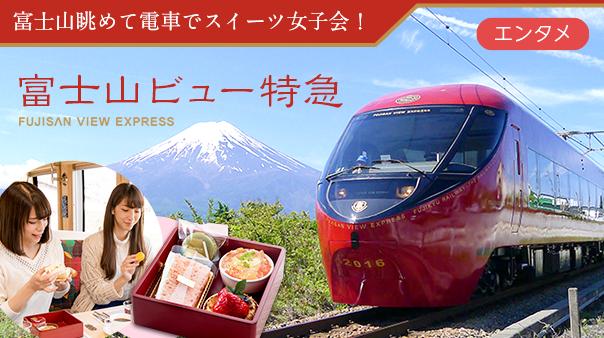 富士山眺めて電車でスイーツ女子会!富士山ビュー特急