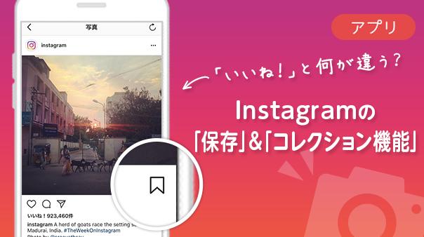 「いいね!」と何が違う?Instagramの「保存」&「コレクション機能」