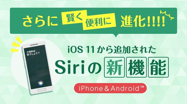 さらに賢く便利に進化!!!!OS11から追加されたSiriの新機能