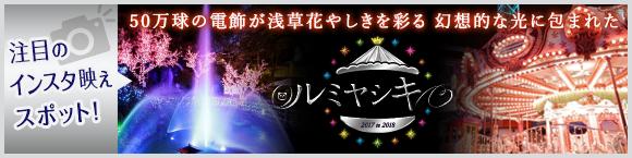 注目のインスタ映えスポット!50万球の電飾が浅草花やしきを彩る 幻想的な光に包まれた「ルミヤシキ2017to2018」