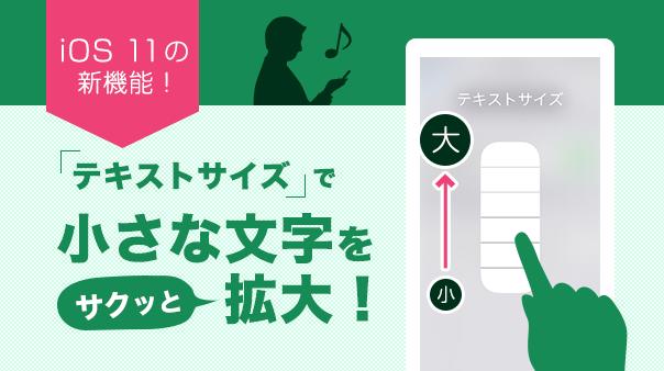 iOS 11の新機能!「テキストサイズ」で小さな文字をサクッと拡大!