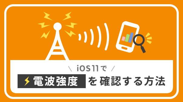 iOS11で電波強度を確認する方法