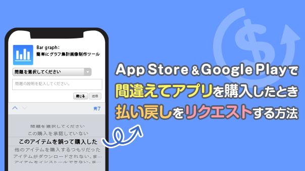 App Store&Google Play™で間違えてアプリを購入したとき払い戻しをリクエストする方法