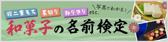 羽二重もち/葛切り/ねりきりetc. 写真でわかる?和菓子の名前検定
